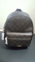NWT New Coach Mini Charlie Backpack Bookbag Signature Canvas F58315 - $148.49