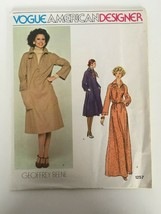 Vogue American Designer Geoffrey Beene Sewing Pattern 1257 Vtg 10 Dress ... - $16.99