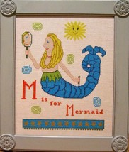 M is for Mermaid cross stitch chart Samplers Revisited - $12.60