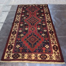 Vintage Afghan Tribal hand knotted rug / Decorative Traditional rug Orie... - $269.10