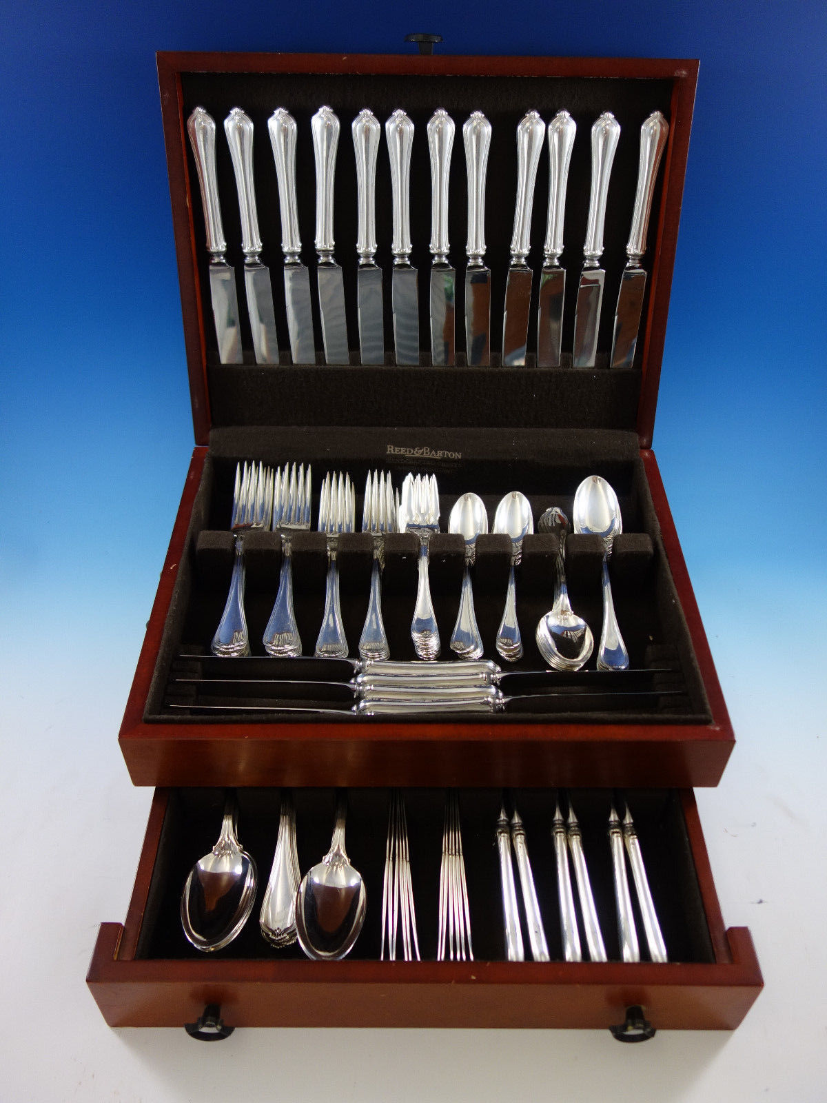 Paul Revere by Towle Sterling Silver Flatware Set for 12 Service 108 pcs Dinner