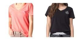 Hurley Women's Ocean Point V-Neck Tee Short Sleeve Shirt T-Shirt
