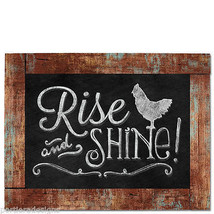 Framed Wooden Chalkboard Sign Wall Plaque RISE and SHINE! Good Morning R... - $21.99