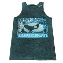 NEW VINTAGE Triggerfish Tank Top Shirt Size Small S Blue Humuhumunukunuk... - $28.49