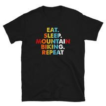 Retro Eat. Sleep. Mountain Biking. Repeat. Vintage Sport Saying Novelty Gift ide - $19.99+
