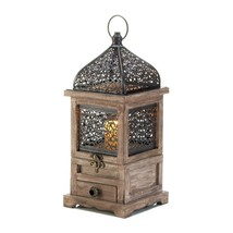 Large Wooden Candle Lantern, Outdoor Lanterns For Candles - Pine Wood, L... - $28.93