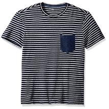 Calvin Klein Jeans Men's Stripe Cotton Denim-Pocket T-Shirt, Sze XXL, MSRP $39 - $21.77