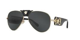 New Versacve 2150-Q 1002/71 Havana GOLD/GRAY Lenses Authentic Sunglasses 62-14 - $315.00