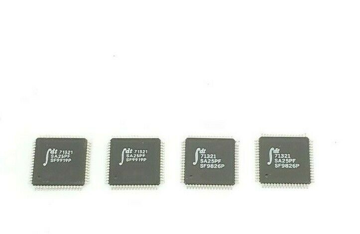 LOT OF 4 NEW INTEGRATED DEVICE TECHNOLOGY 71321-SA25PF IC SRAM 16K-BIT CHIPS