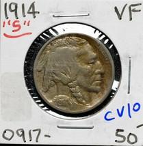 1914S Buffalo Nickel 5¢ Coin Lot# CV10