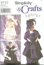 "Simplicity 9712 Decorative 17"" Lady Doll Fashion Dolls Patterns - $12.99"