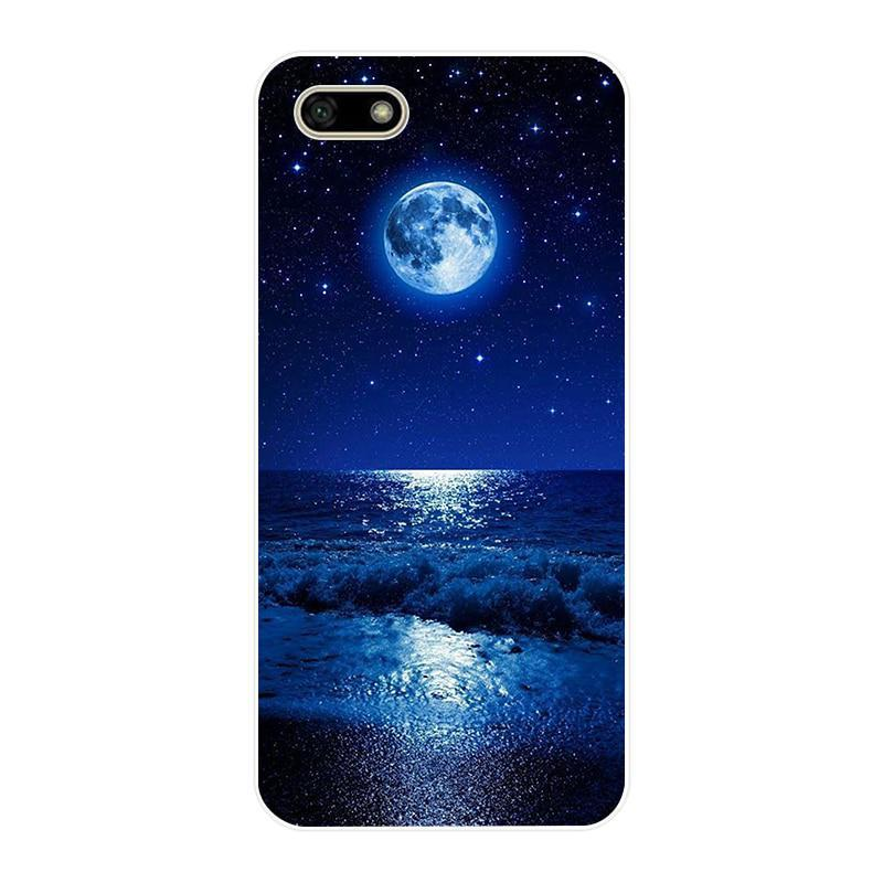 """B Silicone case For 5.45"""" inch Huawei Y5 2018 PRIME case Soft back cover Phone C"""