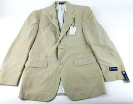 Stafford Mens Size 38 Regular Beige Solid Classic Fit Blazer Suit Jacket... - $32.97