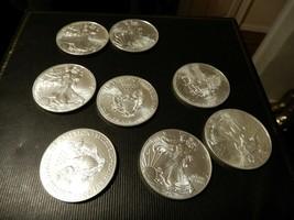 Eight 2016 .999 Fine Silver Eagles  - $280.00