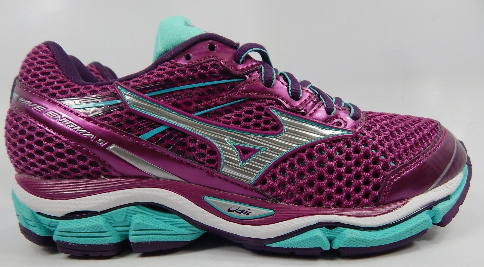 Mizuno Wave Enigma 5 Women's Running Shoes Size US 6 M (B) EU 36 Purple Aqua
