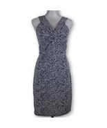 ANN TAYLOR LOFT Dress Size 2 Black and White Print Sleeveless v neck - $19.55