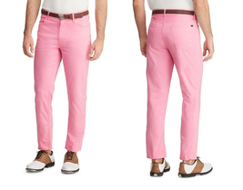 $98.50 Polo Ralph LaurenGolf 5-Pocket Stretch Pants, Pink, 36x34 - $59.39