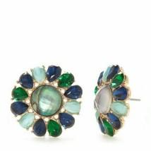 NWT Kate Spade Peacock Way Large Stud Earrings/ Semi Precious Stones ABA... - $72.30