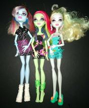 Lot of 3 Monster High Dolls  Lagoona Blue, Venus McFlytrap & Abbey Bomin... - $35.00