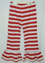 Blanks Boutique Red White Ruffled Pants Cotton Spandex Size 5T image 2