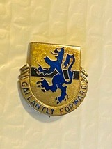 US Military 701st Armored Infantry Battalion Insignia Pin - Gailantly Forward - $10.00