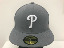 New Era 59Fifty 5950 MLB Philadelphia Phillies Storm Gray Fitted Cap Hat - $34.99