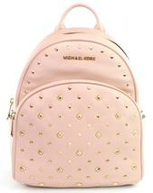Michael Kors Abbey Medium Backpack Bag Ballet Pink Studded Leather RRP 310 - $375.77