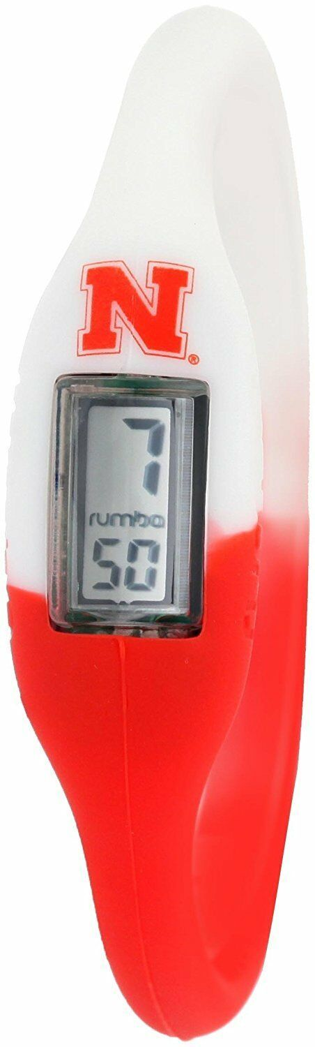 Rumba Time Unisex University of Nebraska Red White Digital Silicone Watch Medium