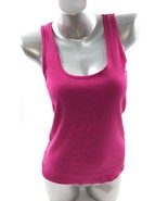 Op Tank Top Size XL Fuchsia Pink Sleeveless Racerback Ribbed Solid Basic Womens - $6.34