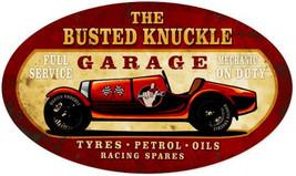 """Busted Knuckle Garage Vintage Racer Metal Sign 24"""" by 14"""" Oval - $40.00"""