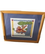 Winnie The Pooh Tigger Piglet Cross Stitch Needlepoint Matted And Framed... - $139.99