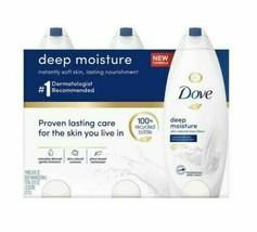 Dove Nourishing Body Wash, Deep Moisture 24 fl oz 3 PK - $22.77