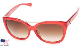 New Coach HC8122F L100 Coby 527513 Red / Brown Lens Sunglasses 57-15-135 B50mm - $98.98
