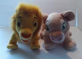 """Lot 2 Disney The Lion King Young Simba and Nala Large Plush 16"""" - $18.68"""