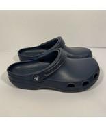CROCS Bistro Pro Slip Resistant Clog Navy Blue- Size Mens 7, Womens 9 - $27.71