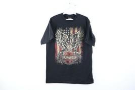 Vintage Harley Davidson Mens Large Distressed USA Eagle Spell Out T-Shir... - $29.65