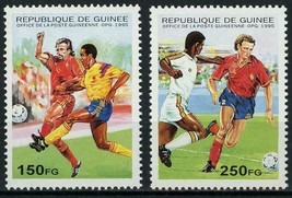 Guinea Soccer Football Sport Serie Set of 2 Stamps Mint NH - $7.39