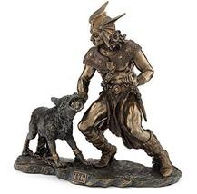 "10.5"" Norse God Tyr & Fenrir Viking Statue Mythology Figurine Figure Dei... - $75.00"