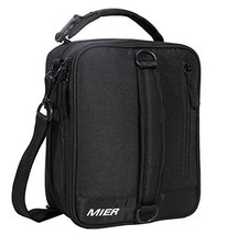 MIER Insulated Lunch Box Bag Expandable Lunch Pack for Men, Women, Black - $17.70
