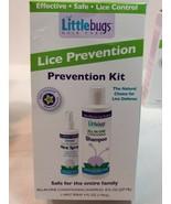 LICE PREVENTION KIT MINT SHAMPOO 8oz & 4oz SPRAY Pesticide-Free Littlebugs - $15.00