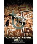 Topps 75th Anniversary Folded Promo Poster Case Topper - $4.99