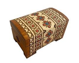 MilmaArtGift Small Decorative Trinket Classic Brown Box Wooden Keepsake Small Ch - $21.77