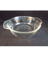 VINTAGE ANCHOR HOCKING FIRE KING 2QT CASSEROLE DISH CLEAR PYREX BAKING DISH - $8.59
