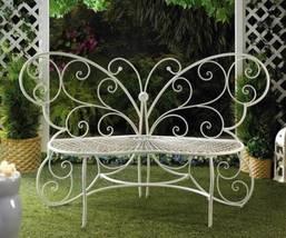 10015688 SHIPS FREE Summerfield Terrace White Butterfly Bench - £119.65 GBP