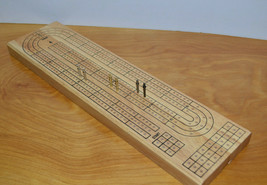 CRIBBAGE GAME WOODEN BOARD METAL PEGS THE CLASSIC COLLECTION - $9.74