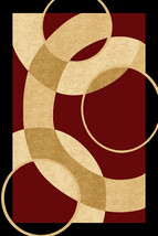 PREMIUM 3D Hand Carved Modern 8X10 8X11 Rug Contemporary 1052 Burgundy - $219.00