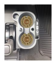 12 GAUGE SHOTGUN SHELL CUSTOM  SANDSTONE CAR COASTERS ABSORBS SET (2) - $16.78