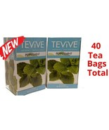 2 TEA TEViVE Peppermint Herbal Infusions 40 Bags Total Hot or Iced Delic... - $9.89