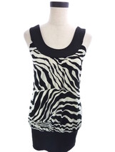 Womens FLEURISH Zebra Animal Print Clubwear Top Black & White S - £13.96 GBP