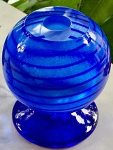 NEW Blue Spiral Orb Candle Holder by Kosta Boda in Swedish - $68.31